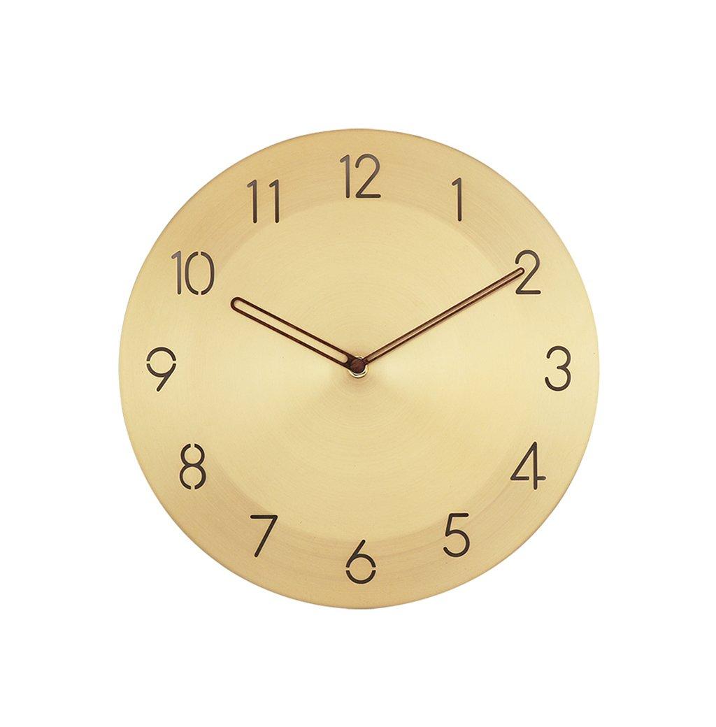 QFF 丸型銅の壁時計、(30 * 30CM)寝室教室セラミックショップ家具の壁時計 家族用 (色 : C, サイズ さいず : 30 * 30CM) B07FS6CNYR 30*30CM|C C 30*30CM