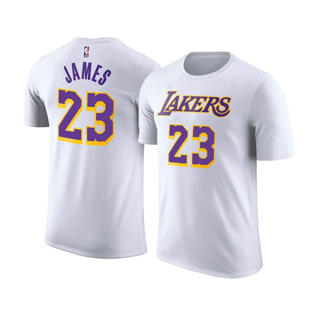 Outerstuff Lebron James Los Angeles Lakers  23 Youth Player Name   Number  T-Shirt 00ef9ff5a