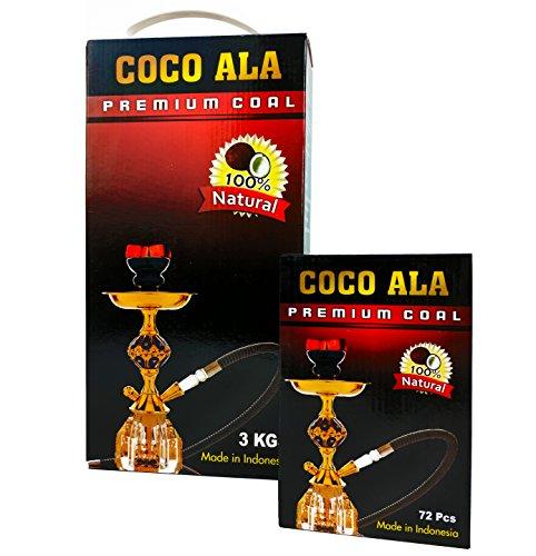 Coco Ala Charcoal 100% Natural Coconut Hookah Shisha Coal Narguile Coals (72)
