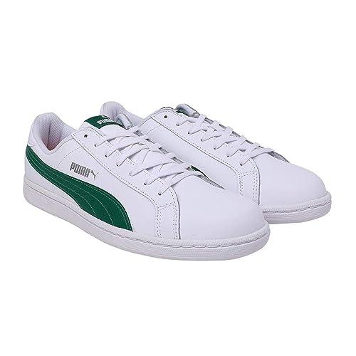 Puma Men's White-Verdant Green Sneakers