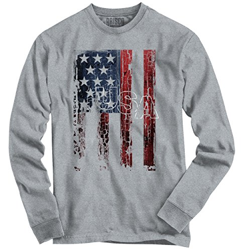 Classic Teaze USA Shirt | Flag Stars Stripes America Patriot Pride United Long Sleeve (Star Flag Shirt)