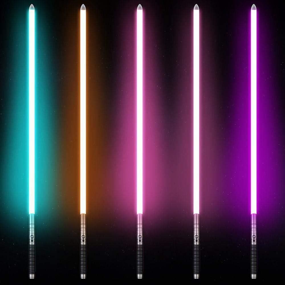 BTYKJ Star Wars Luce Sword Effetto Multi-Suono Illuminazione Manico in Metallo Puntelli Giocattolo Regalo Luce Monocromatica Golden handle