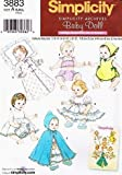 """Simplicity 3883 Baby Doll Clothes Archive Sewing Pattern in Three Sizes (Small 12"""" - 14"""" Medium 16"""" - 18"""" Large 20"""" - 22"""")"""