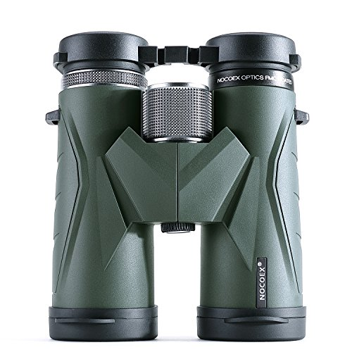 NOCOEX Optics 10x42 Compact Binoculars for Adults Bird Watching Waterproof Fully Multi Coated Lens Lightweight and Small Size for Travel and Outdoor Activities