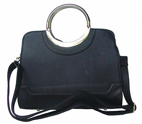 Jessica Collection chice Tasche schwarz, 6 Fächer, Kunstleder
