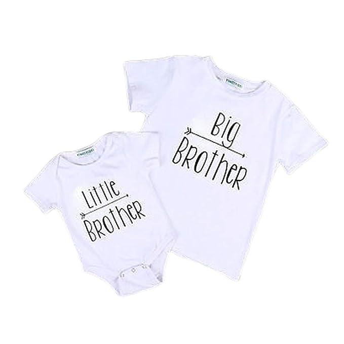 Baby Kind Mädchen Kleiner Big Sister Kleidung Overall Strampler Outfits T-Shirt