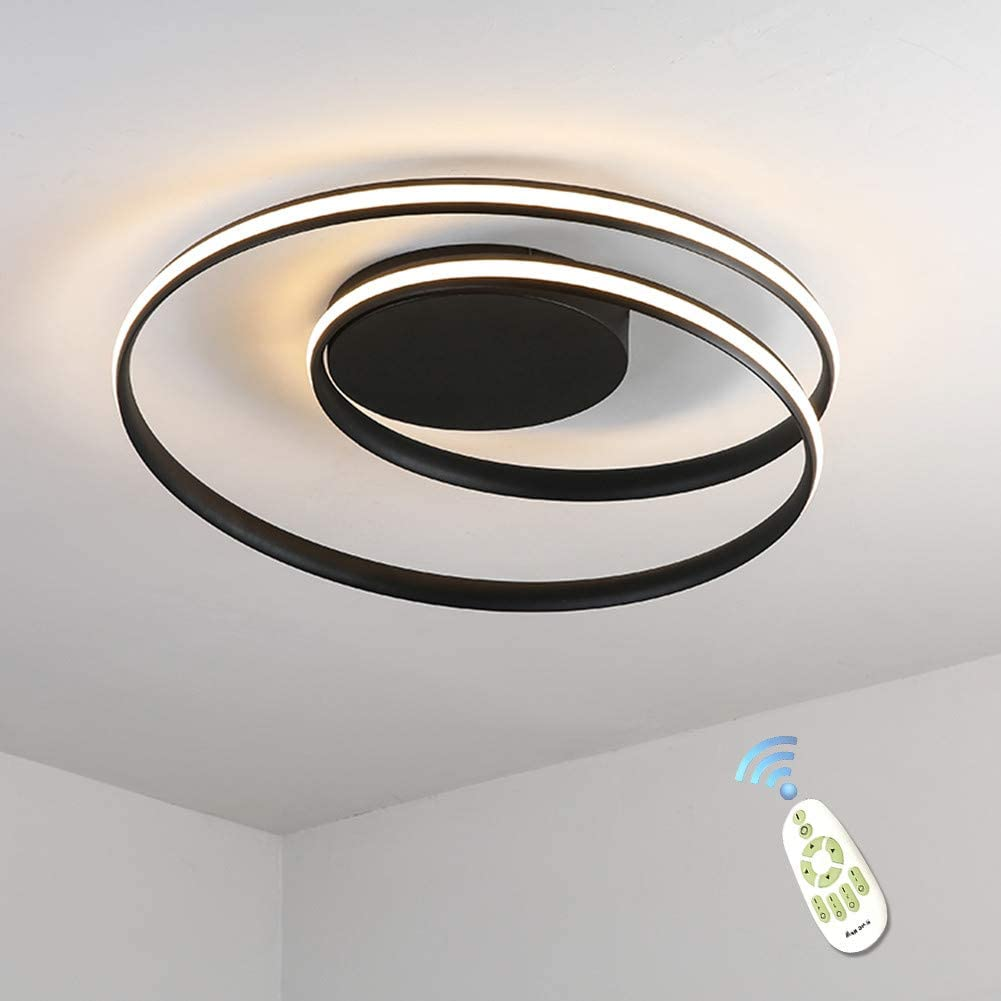 Simple Acrylic Modern Flush Mount Ceiling Lights for Living Room Bedroom Led Pendant Chandeliers fixtures Lighting with Dimmable Remote Control