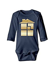 Kids Baby Homestuck Gold Logo Romper Jumpsuit Navy