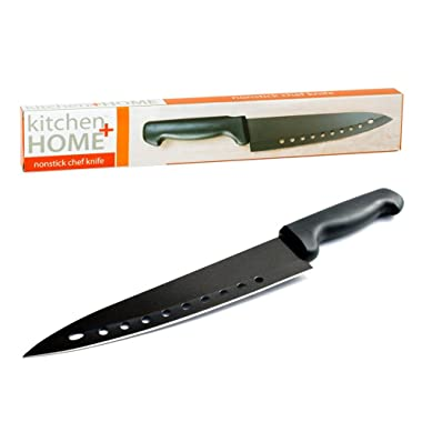 Kitchen + Home Non Stick Sushi Knife - The Original 8 inch Stainless Steel Non Stick Multipurpose Chef Knife