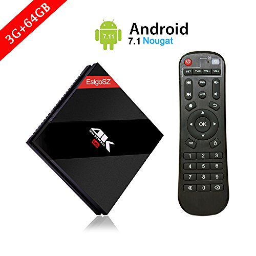 Powerful Function Android 7.1 OS TV Box , [ 3GB RAM + 64GB ROM] Mini PC with Amlogic S912 Octa Core 64 bits CPU Support Dual Band WIFI & BT 4.1 & Ethernet 100M/1000M LAN Set Top Box