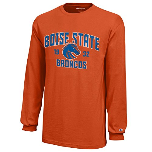 NCAA Champion Boy's Long Sleeve Jersey T-Shirt Boise State Broncos Medium ()