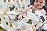 Aenne Baby Muslin Baby Swaddle Blanket Dinosaur