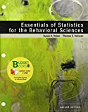 Loose-Leaf Version for Essentials of Statistics for the Behavioral Science and LaunchPad 6 Month Access Card, Nolan, Susan A. and Berger, Kathleen Stassen, 1464195676
