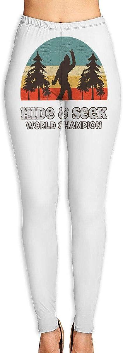 High Rise Retro Bigfoot Hide /& Seek World Champion Yoga Pants High Waist Ultra Soft Lightweight Leggings