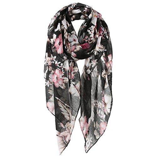 Fine Edge Trendy (Vbiger Lightweight Scarves Fashion Spring Winter Print Shawl Wrap For Women)