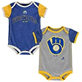 Milwaukee Brewers Vintage Baby / Infant Go Team 2 Piece Creeper Set