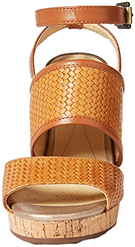 Geox D para Mauvelle Caramel A Beige Pulsera Mujer con Sandalia vvqrd
