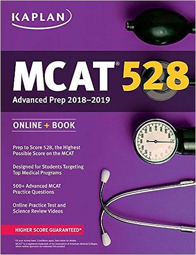 MCAT 528 Advanced Prep 2018-2019: Online + Book (Kaplan Test Prep