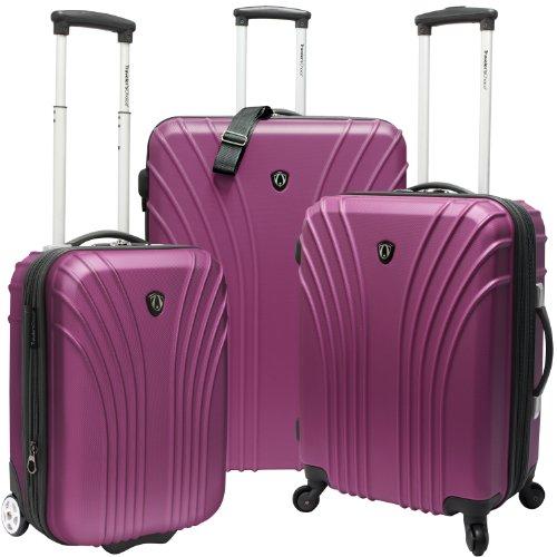 Traveler's Choice Cape Verde Lightweight Expandable Spinner Luggage Set, Lavendar (19