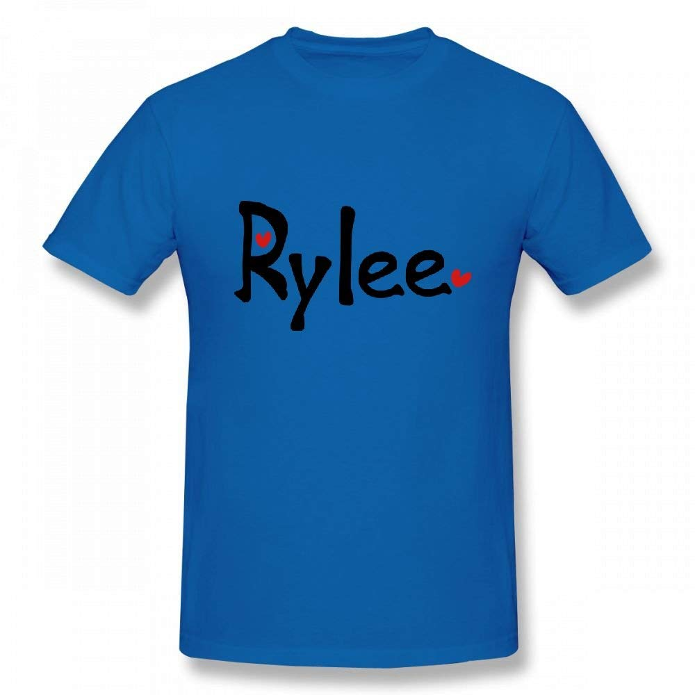 53a3923c Amazon.com: Name Rylee TXT Hearts Customizable Personalized Men's T-Shirt  Tee: Clothing