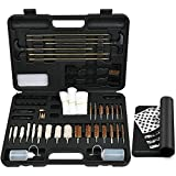 iunio Universal Gun Cleaning Kit with Mat Carrying Case for Rifle Pistol Handgun Shotgun Hunting Shooting All Caliber (All-in-One)