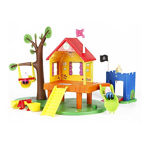 Peppa Pig's wonderful forest playground,The suits include page and his two friends, as well as swings, slides, seesaws, houses, big trees and (Tree House Costume)