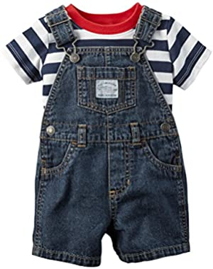 Carter's Baby Boys' 2-Piece Shortall Set