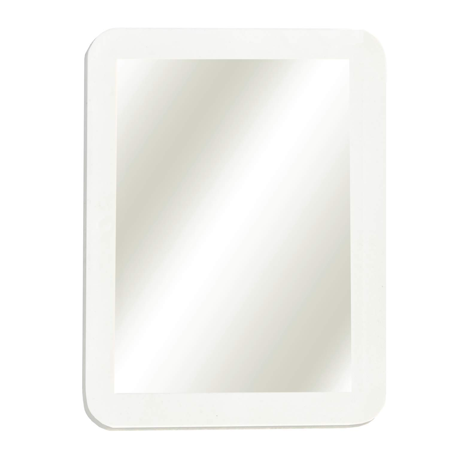 "Magnetic Locker Mirror For School Locker, Gym Locker, Office Cabinet, Workshop or Refrigerator, Makeup Mirror, 5"" x 7"" White"