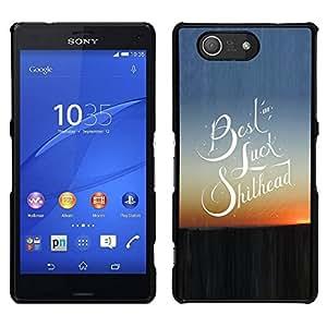 EJOY---Cubierta de la caja de protección para la piel dura ** Sony Xperia Z3 Compact ** --Suerte Cita Slogan Sunset View