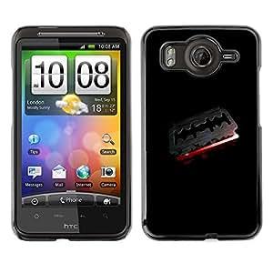 TopCaseStore / la caja del caucho duro de la cubierta de protección de la piel - Goth Dark Razor Blade & Blood - HTC G10