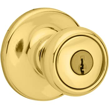 Kwikset Mobile Home Entry Knob In Polished Brass Door Handles
