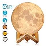 good looking unique bedside lamp ACED 7.1 Inch Large Moon Lamp Touch Sensor Control Color Changing Dimmable Baby Night Light LED Rechargeable Battery Operated Cordless Full Moon Lamp Ambient Light for Bedroom, Father's Day Gifts