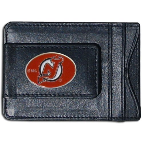 NHL New Jersey Devils Genuine Leather Cash and Cardholder