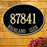 Whitehall Hawthrone Oval Estate Wall Two Line Custom Address Plaque