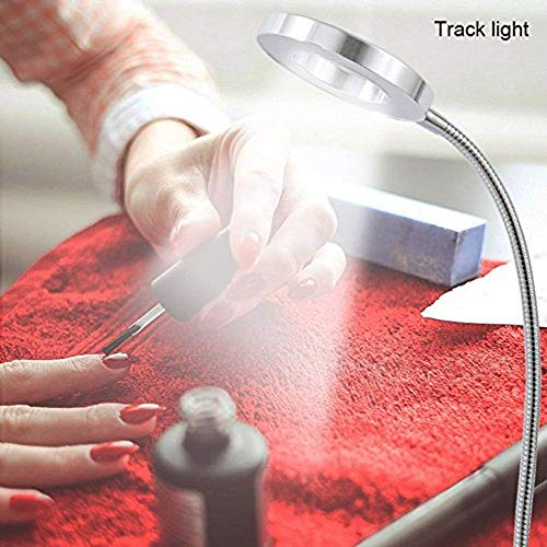 6W LED USB Dimmable Clip on Reading Light,Clip Laptop Lamp for Book,Piano,Bed Headboard,Desk,Eye-care 2 Light Color Switchable, Adapter Included(Black) by W-LITE (Image #8)