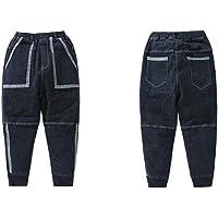 NOBRAND Jeans para niños Jeans para niños Cintura elástica Pantalones de Vaquero Casuales geométricos Sueltos
