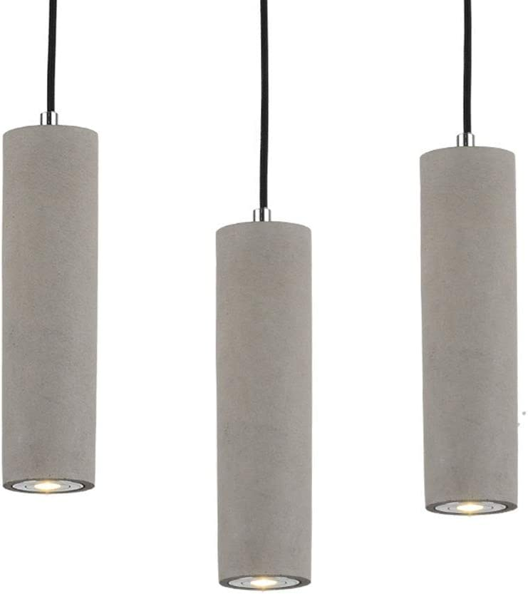 Hanging Pendant Lights LED Lighting lamp Kitchen Island Ceiling Light Shade Concrete Cement Fixtures Industrial Decor for Dining Room Coffee Club Resturant Bar Living Room 7x25cm 2.7×9.8
