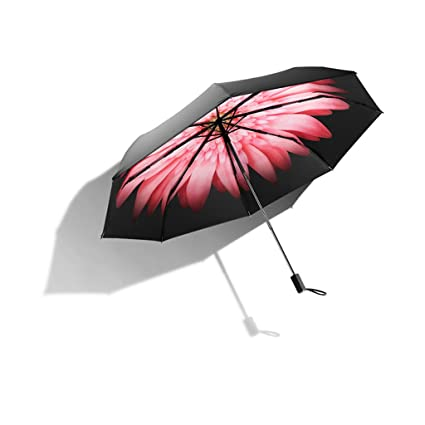 PLL Moda Paraguas Negro Paraguas Paraguas Protección UV Sombrilla Paraguas Doble Lluvia Paraguas