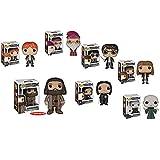Funko Pop: Harry Potter Bundle- Harry Potter, Voldemort, Albus Dumbledore, Hermione Granger, Ron Weasley, Severus Snape and 6' Rubeus Hagrid