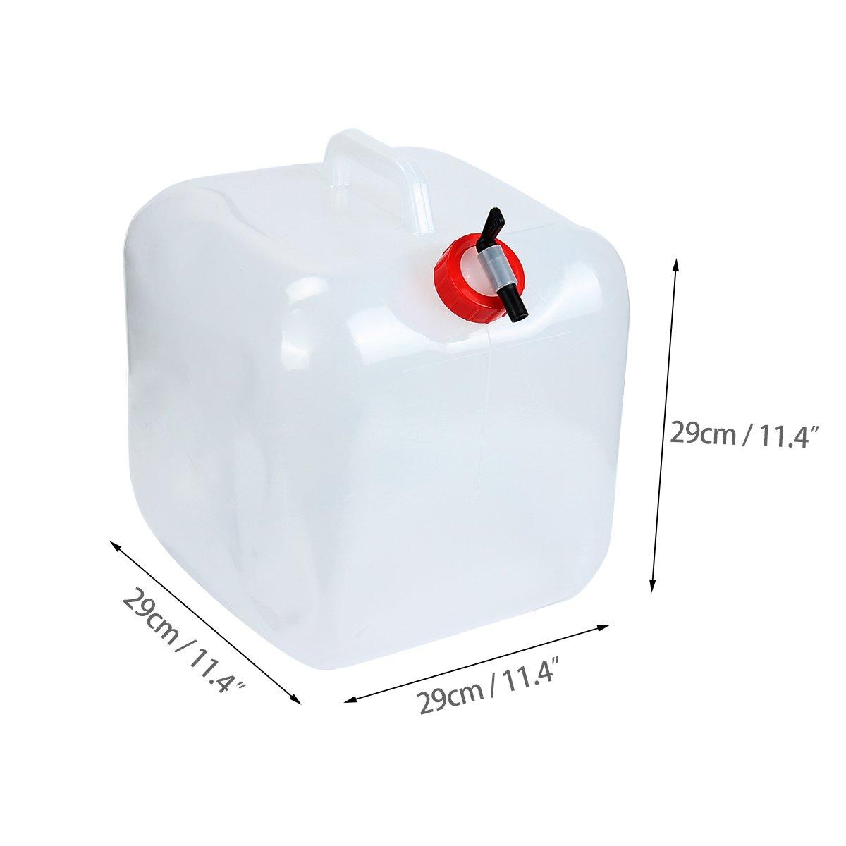 Donnagelia 20L Bidon deau R/éservoir deau Portable Pliable PVC Grande Capacit/é pour Camping Randonn/ée Pique-Nique Ext/érieurs Survie dUrgences