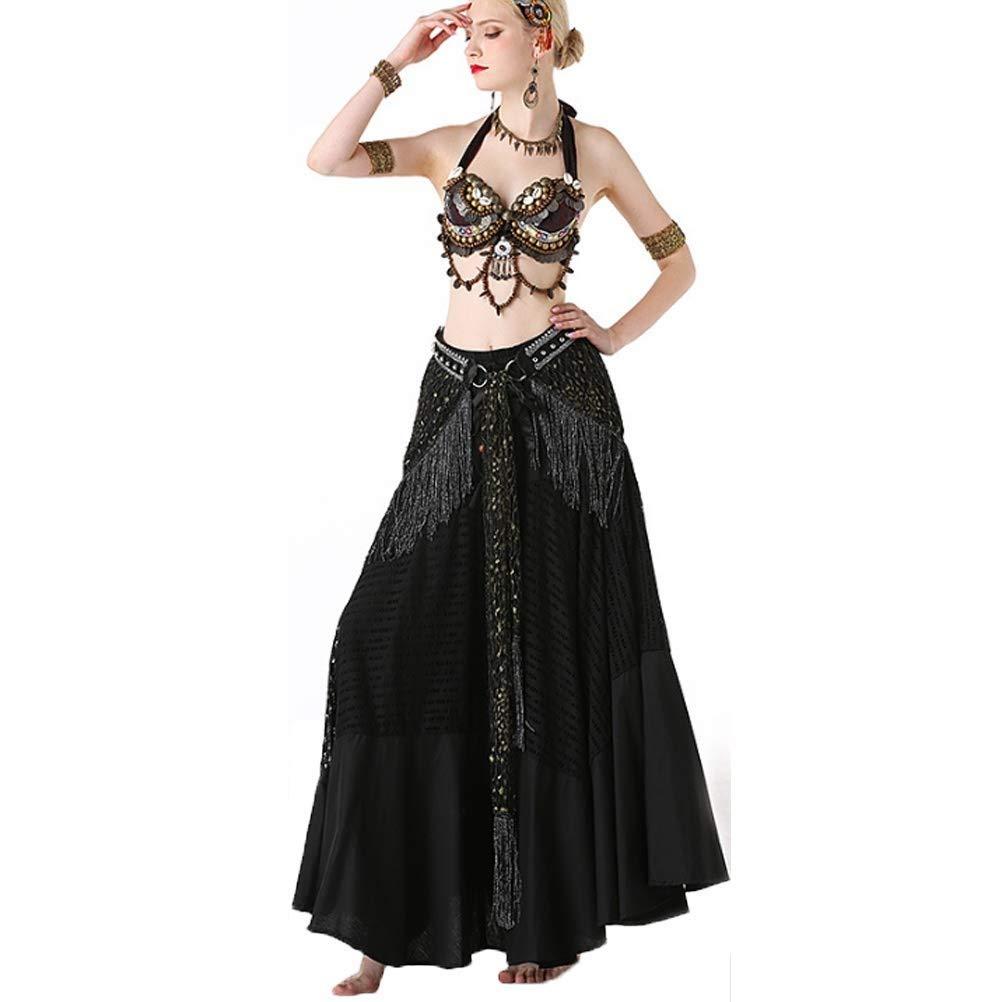 本店は 女性のベリーダンス衣装部族パフォーマンススーツレディースクラシックフォークダンス衣装シェルブラ+ウエストタオル+下スカート ブラック、3ピース B07Q3QWR4M B07Q3QWR4M M|ブラック ブラック M|ブラック M, 梱包資材のK-MART:ebd48be7 --- a0267596.xsph.ru