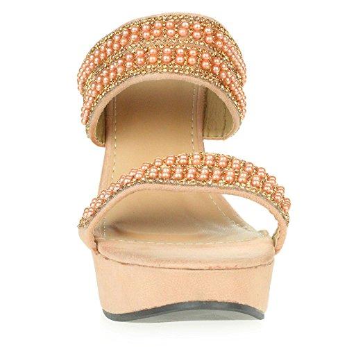 Chaussures Hauts Taille Champagne Sandales Soir Bal Forme Dames Enfiler Femmes Talons Plate Diamante Fête de à qZTTOS