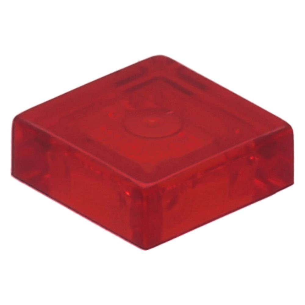 100 x LEGO® Tile 1 x 1 with Groove Trans-Red