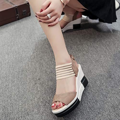 Cintura Sandali Gioiello Grandi Da Con Fibbia Marrone Giallo Zeppa Dimensioni Largo Nero Scarpe Sunnywill Pantofole Sexy Eleganti Donna Ballo Casual Singole Bambino qfPaagxU