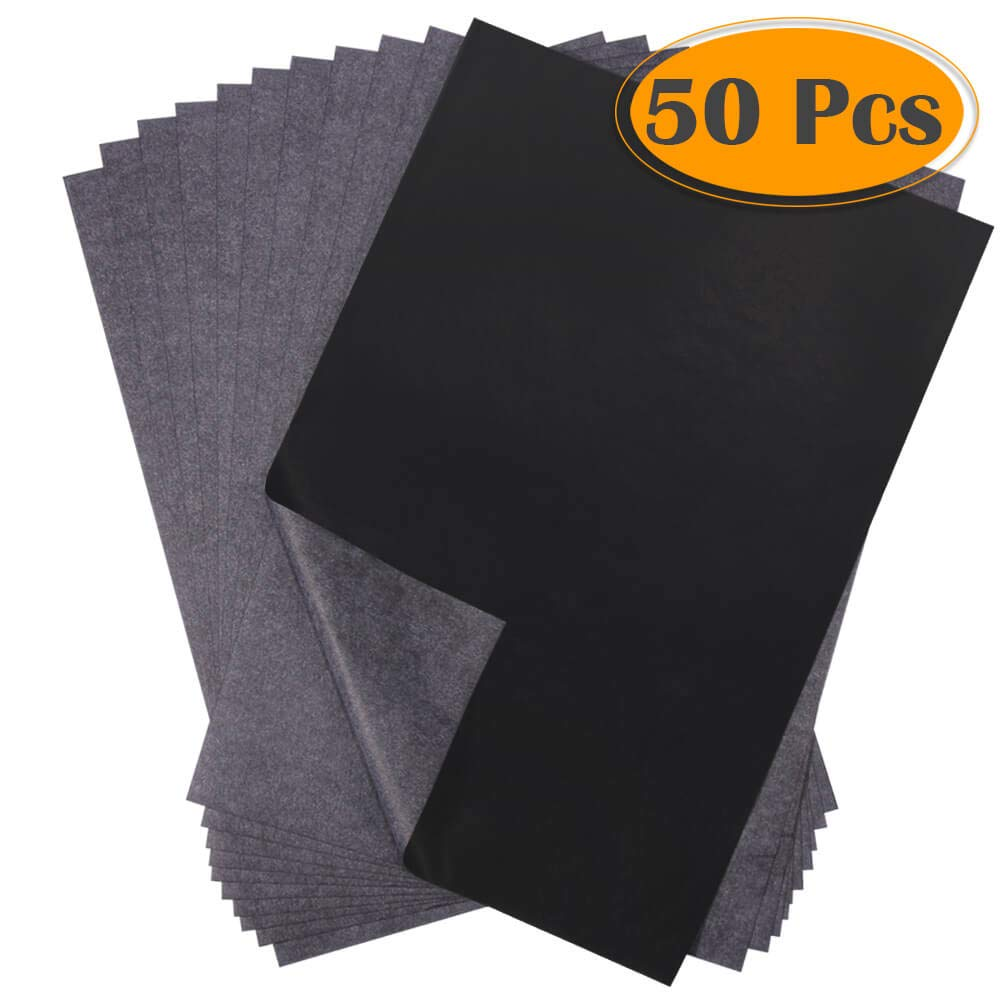 selizo 50 Sheets Black Carbon Transfer Tracing Paper for Wood 9 x 13 Inches Paper Canvas and Other Art Surfaces