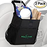 Automotive : Big Ant Waterproof Car Trash Bag for Little Leak Proof – Car Garbage Bag with Side Pocket-2 PACK