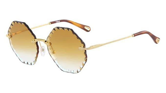 4ad2dd3cda Image Unavailable. Image not available for. Color  Chloe CE143S 837  Gold Brick Rosie Round Sunglasses ...