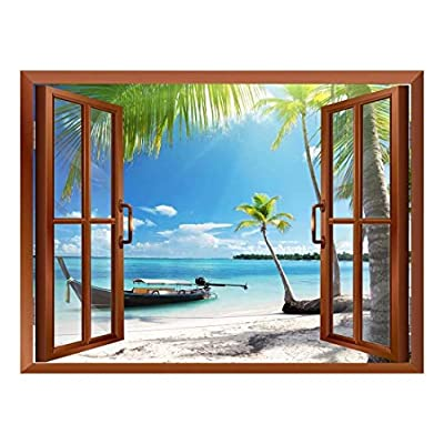 Boat on The Oceanside Removable Wall Sticker/Wall Mural - 36