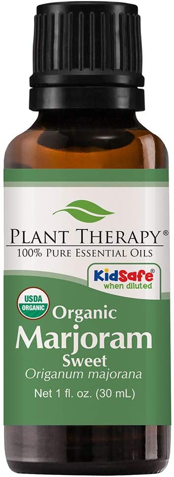 Plant Therapy Marjoram Sweet Organic Essential Oil 30 mL (1 oz) 100% Pure, Undiluted, Therapeutic Grade