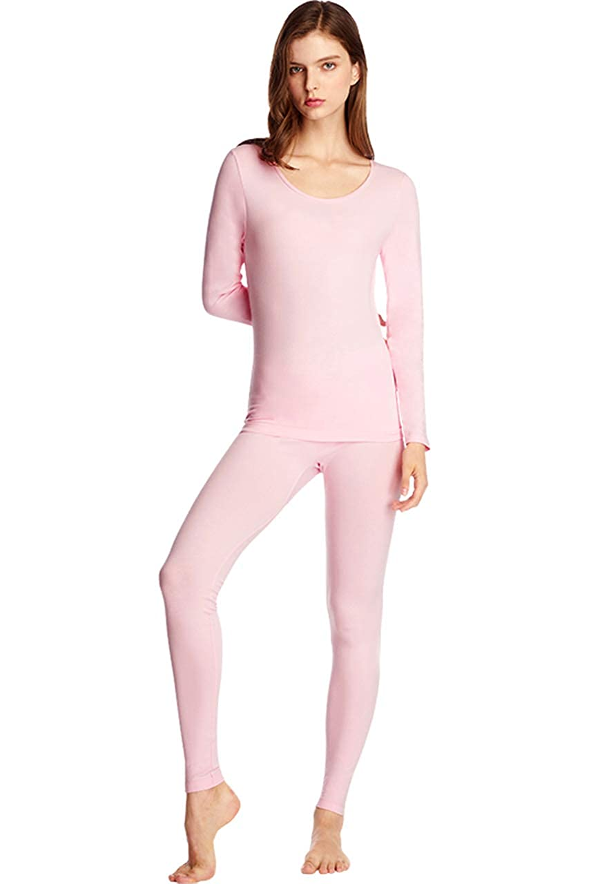 SANQIANG Women s Exposed Waistband Thermal Underwear Set Cotton Long ... dd0e45c24